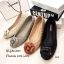 พร้อมส่ง รองเท้าคัทชูส้นแบน แต่งอะไหลดอกคามิลเลีย StyleChanel แฟชั่นเกาหลี [สีน้ำตาล ] thumbnail 2