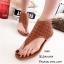 พร้อมส่ง รองเท้าหุ้มข้อสีน้ำตาล แฟชั่นแคชชวล ฉลุลาย แฟชั่นเกาหลี [สีน้ำตาล ] thumbnail 3