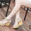 รองเท้าส้นเตารีดรัดส้น หุ้มข้อ แต่งซิป [สีครีม ] thumbnail 3