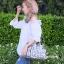 กระเป๋าสะพายแฟชั่น กระเป๋าสะพายข้างผู้หญิง Robot Nologo เนื้อเงา [สีเทา] thumbnail 2