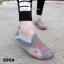 พร้อมส่ง รองเท้าผ้าใบแฟชั่นสีเทา ไร้เชือก สไตล์ Sport Girls แฟชั่นเกาหลี [สีเทา ] thumbnail 1