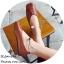 พร้อมส่ง รองเท้าคัทชูส้นแบนสีน้ำตาล หัวตัด กำไรข้อเท้าไข่มุก แฟชั่นเกาหลี [สีน้ำตาล ] thumbnail 4