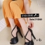พร้อมส่ง รองเท้าส้นเข็มหุ้มส้นสีดำ สายคาดไขว้ สไตล์เกาหลี แฟชั่นเกาหลี [สีดำ ] thumbnail 3