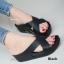 รองเท้าแตะเพื่อสุขภาพ พื้นยาง Slide Fitness Style [สีดำ ] thumbnail 1