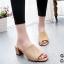 รองเท้าส้นตันเปิดส้น แบบสวม [สีครีม ] thumbnail 1
