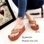 พร้อมส่ง รองเท้าแตะผู้หญิงสีส้ม แบบคีบ BAOBAO Issey Miyake แฟชั่นเกาหลี [สีส้ม ] thumbnail 1