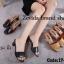 พร้อมส่ง รองเท้าแตะสไตล์ลำลอง เปิดส้น งานหนังอย่างดี แฟชั่นเกาหลี [สีดำ ] thumbnail 4