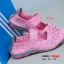 รองเท้าผ้าใบเพื่อสุขภาพ ผ้ายางถัก เอาใจสปอร์ตเกิร์ล [สีชมพู ] thumbnail 4