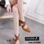 พร้อมส่ง รองเท้าส้นสูงรัดส้น หัวแหลม สายคาดไขว้ แฟชั่นเกาหลี [สีน้ำตาล ] thumbnail 3