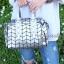 กระเป๋าสะพายแฟชั่น กระเป๋าสะพายข้างผู้หญิง Robot Nologo เนื้อเงา [สีเทา] thumbnail 4