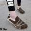 พร้อมส่ง รองเท้าผ้าใบแฟชั่นสีน้ำตาล ไร้เชือก สไตล์ Sport Girls แฟชั่นเกาหลี [สีน้ำตาล ] thumbnail 1