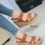 รองเท้าส้นเตารีดรัดส้น สายไขว้ กระชับเท้า [สีน้ำตาล ] thumbnail 5