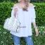 กระเป๋าถือ กระเป๋าสะพายข้างแฟชั่น Robot Nologo เนื้อเงา [สีขาว ] thumbnail 2