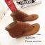 พร้อมส่ง รองเท้าหุ้มข้อสีน้ำตาล แฟชั่นแคชชวล ฉลุลาย แฟชั่นเกาหลี [สีน้ำตาล ] thumbnail 4