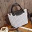 กระเป๋าถือ กระเป๋าสะพายข้างแฟชั่น Stlye baobao งานชน shop [สีขาว ] thumbnail 1