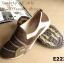 พร้อมส่ง รองเท้าผ้าใบแฟชั่นสีน้ำตาล ไร้เชือก สไตล์ Sport Girls แฟชั่นเกาหลี [สีน้ำตาล ] thumbnail 2