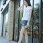 พร้อมส่ง รองเท้าผ้าใบหุ้มข้อสีขาว สริมส้น ผ้าแคนวาส แฟชั่นเกาหลี [สีขาว ] thumbnail 4