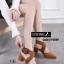 พร้อมส่ง รองเท้าส้นสูงรัดส้น หัวแหลม สายคาดไขว้ แฟชั่นเกาหลี [สีน้ำตาล ] thumbnail 2
