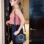 กระเป๋าสะพายแฟชั่น กระเป๋าสะพายข้างผู้หญิง Chol bag [สีดำ] thumbnail 2