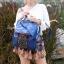 กระเป๋าเป้ผู้หญิง กระเป๋าสะพายข้างแฟชั่น ปักลายวินเทจ สะพายข้างหรือสพายหลังก็ได้ [สีน้ำเงิน ] thumbnail 3
