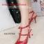พร้อมส่ง รองเท้าส้นสูงรัดส้นสีแดง VALENTINO Rockstud Heel Style แฟชั่นเกาหลี [สีแดง ] thumbnail 3