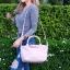 กระเป๋าสะพายแฟชั่น กระเป๋าสะพายข้างผู้หญิง ลองชอมหนัง Style [สีชมพู] thumbnail 2