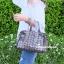 กระเป๋าถือ กระเป๋าสะพายข้างแฟชั่น Robot Nologo เนื้อเงา [สีทอง ]