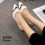 รองเท้าคัทชูหัวแหลม ส้นเข็ม สไตล์สาวออฟฟิศ [สีครีม ]
