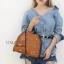 กระเป๋าสะพายแฟชั่น กระเป๋าสะพายข้างผู้หญิง กระเป๋าสะพายโซ่ [สีดำ] thumbnail 2