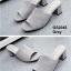 รองเท้าส้นตันเปิดส้น แบบสวม [สีเทา ] thumbnail 3