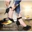 พร้อมส่ง รองเท้าส้นเข็มรัดข้อสีดำ หัวแหลม เดย์ทูไนท์ไอเท็ม แฟชั่นเกาหลี [สีดำ ] thumbnail 4