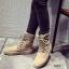 พร้อมส่ง รองเท้าผ้าใบหุ้มข้อสีแอปริคอท ผ้าสักหราด แฟชั่นเกาหลี แฟชั่นเกาหลี [สีแอปริคอท ] thumbnail 1