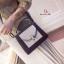 กระเป๋าสะพายแฟชั่น กระเป๋าสะพายข้างผู้หญิง 2tone วัสดุหนังPUหนาอย่างดี [สีดำ ] thumbnail 5