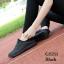 พร้อมส่ง รองเท้าผ้าใบแฟชั่น งานผ้า น้ำหนักเบา ทรงยอดฮิต แฟชั่นเกาหลี [สีดำ ] thumbnail 1