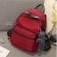 กระเป๋าเป้ผู้หญิง กระเป๋าสะพายข้างแฟชั่น Moschino แถมพวงกุญแจหมี [สีแดง ] thumbnail 1