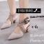พร้อมส่ง รองเท้าส้นสูงรัดส้น หัวแหลม สายคาดไขว้ แฟชั่นเกาหลี [สีครีม ] thumbnail 3