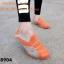 พร้อมส่ง รองเท้าผ้าใบแฟชั่นสีส้ม ไร้เชือก สไตล์ Sport Girls แฟชั่นเกาหลี [สีส้ม ] thumbnail 1