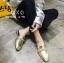 พร้อมส่ง รองเท้าส้นแบนสีทอง แบบสวม สีเมทัลลิค แฟชั่นเกาหลี [สีทอง ] thumbnail 2