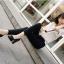 พร้อมส่ง รองเท้าคัทชูส้นสูงสีดำ ทรงสวยแฟชั่นเกาหลี แฟชั่นเกาหลี [สีดำ ] thumbnail 2