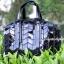 กระเป๋าถือ กระเป๋าสะพายข้างแฟชั่น Robot Nologo เนื้อเงา [สีดำ ] thumbnail 4