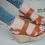 รองเท้าส้นเตารีดรัดส้น สายไขว้ กระชับเท้า [สีน้ำตาล ] thumbnail 2