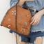 กระเป๋าสะพายแฟชั่น กระเป๋าสะพายข้างผู้หญิง กระเป๋าสะพายโซ่ [สีดำ] thumbnail 3