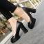พร้อมส่ง รองเท้าคัทชูส้นสูงสีดำ ทรงสวยแฟชั่นเกาหลี แฟชั่นเกาหลี [สีดำ ] thumbnail 1