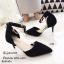 พร้อมส่ง รองเท้าส้นเข็มรัดข้อสีดำ หัวแหลม เดย์ทูไนท์ไอเท็ม แฟชั่นเกาหลี [สีดำ ] thumbnail 5