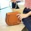 กระเป๋าสะพายแฟชั่น กระเป๋าสะพายข้างผู้หญิง Chol bag [สีดำ] thumbnail 4