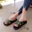 รองเท้าแตะเปิดส้น สายคาดไขว้สไตล์เกาหลี [สีเขียว ] thumbnail 2