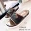 พร้อมส่ง รองเท้าแตะแฟชั่นสีน้ำตาล หนังนิ่ม พิมล์ลายพราง แฟชั่นเกาหลี [สีน้ำตาล ] thumbnail 1
