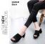 รองเท้าส้นตันเปิดส้น แบบสวม [สีดำ ] thumbnail 1