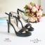 พร้อมส่ง รองเท้าส้นสูงรัดส้นสีดำ เปิดหน้าเท้า แฟชั่นเกาหลี แฟชั่นเกาหลี [สีดำ ] thumbnail 2