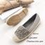 พร้อมส่ง รองเท้าผ้าใบผู้หญิงสีเทา พียูนิ่ม แต่งอะไหล่ดอกไม้ตอก แฟชั่นเกาหลี [สีเทา ] thumbnail 4